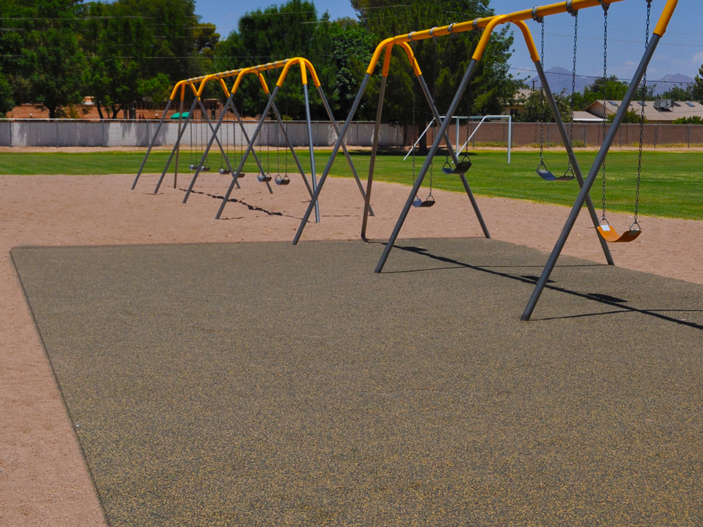 Heavy Duty Swing Set with poured-in-place rubber surfacing by ARS