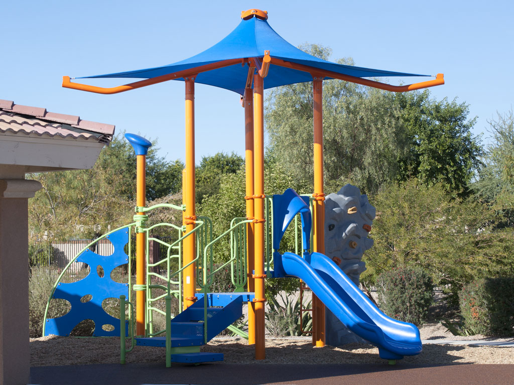 Playground Structure with built-in Canopy