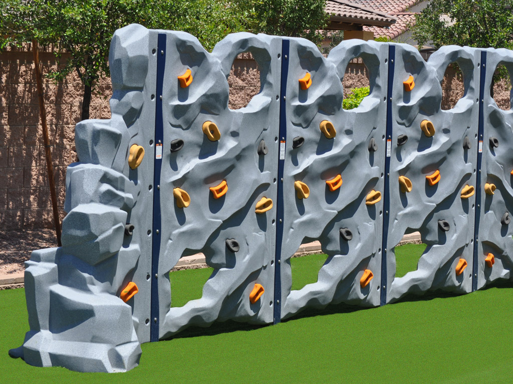 Rock Block Wall with Ameri-Grass protective surfacing