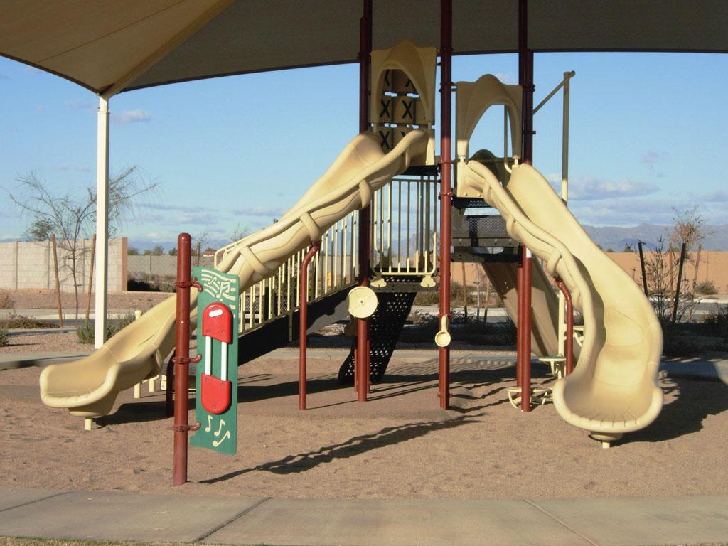 Playground under Shade Canopy